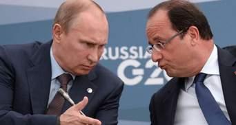 Олланд закликав Путіна припинити обстріли в Україні