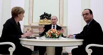 Путін поскаржився Меркель і Олланду на Україну