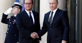 Зустріч Путіна і Олланда провалилась, – французькі ЗМІ