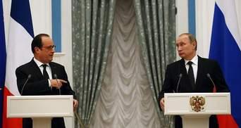 Путін з Олландом поговорили про Україну