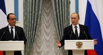 У Кремлі розповіли, чому Путін не захотів зустрічатись з Олландом