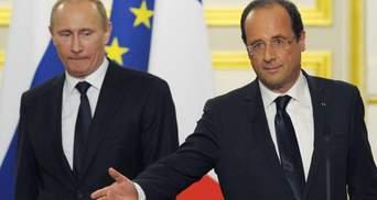 Олланд розповів, чому Путін відклав візит до Парижа