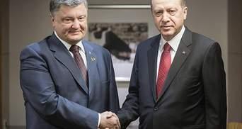 Порошенко поговорив з Ердоганом про вільну торгівлю