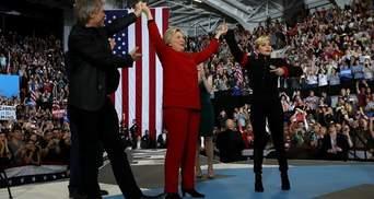 Леді Гага та Бон Джові заспівали на підтримку Клінтон