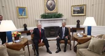 Трамп поспілкувався з Обамою про передачу влади
