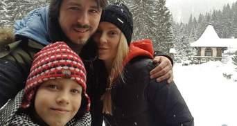 Притула поделился фото с семейного отдыха в Карпатах