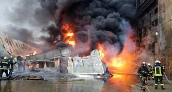 В Киеве вспыхнул масштабный пожар: опубликовали видео и фото