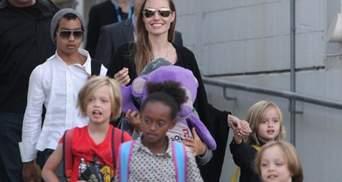 Анджелина Джоли накормила детей пауками и сверчками