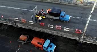 Шулявский мост сняли на видео с высоты птичьего полета