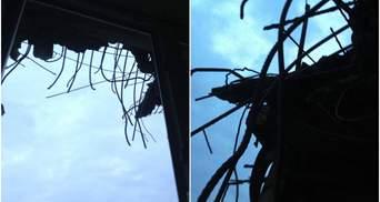 Боевики из танка обстреляли украинский наблюдательный пост: появились фото