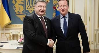 Порошенко поразмышлял с Кэмероном, как бороться против агрессии России