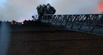 В Киеве произошел пожар: опубликовали фото и видео