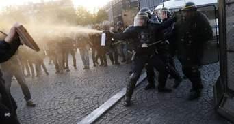 Выборы во Франции: появились первые фото с протестов в Париже