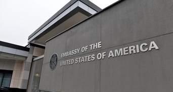 Полиция больше не считает взрыв на территории посольства США в Киеве терактом