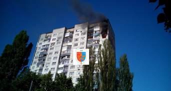 Пожар на Теремках в Киеве: в небе виден черный столб дыма