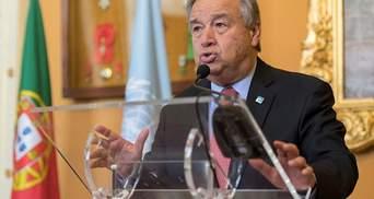 Генсек ООН пообещал поддержку Украине
