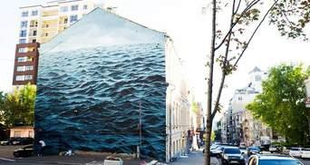 Африканец создал невероятный мурал в Киеве с изображением Черного моря: фото