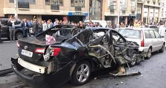 У центрі Києва вибухнув автомобіль: можливі жертви