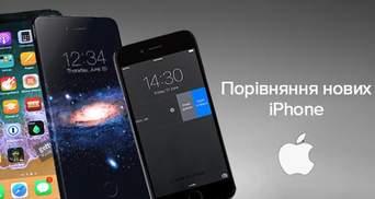 Чим відрізняються iPhone 8, iPhone 8 Plus та iPhone X: порівняння