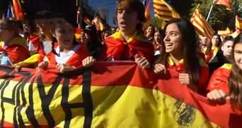 Около трехсот тысяч человек протестуют в Барселоне