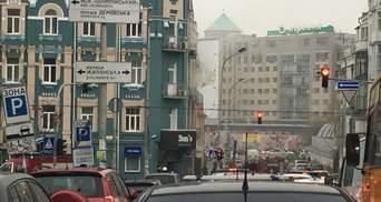 В центре Киева горит ресторан: фото и видео
