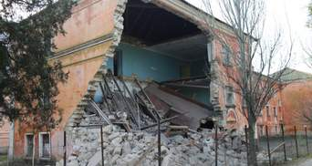 В оккупированном Крыму обрушилось одно из зданий университета: фото и видео