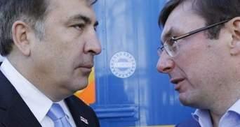 Рішення про затримання Саакашвілі було прийняте у понеділок, – Луценко