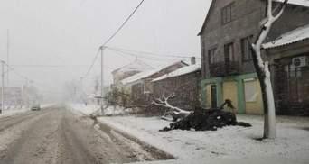 Негода в Україні: половина Одещини залишається без світла