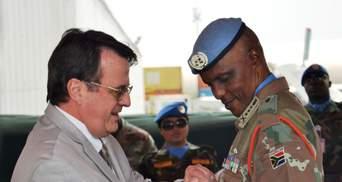 В Конго украинские миротворцы попрощались с командующим миссии ООН