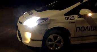В Запорожье иномарка протаранила автомобиль патрульных полиции