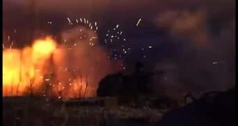 Військові ЗСУ підпалили російську техніку під окупованою Горлівкою