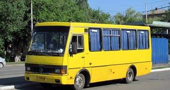 В Киеве неизвестный обстрелял пассажирские автобусы