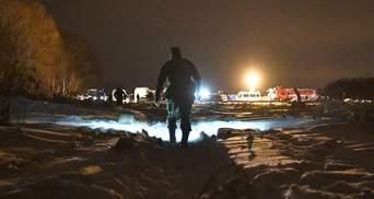 Падение Ан-148: фото с места ужасной катастрофы