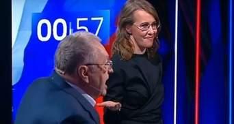 Собчак и Жириновский снова поссорились на росТВ: известна причина
