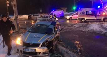 Ночные погони: в Киеве и Ровно пострадали 5 полицейских