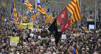 Задержание Пучдемона: в Каталонии снова многолюдные митинги