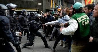 Во время протестов в Каталонии в столкновениях с полицией пострадали 98 человек