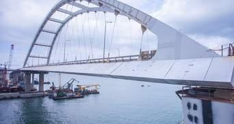 Последние этапы строительства Керченского моста сняли на фото