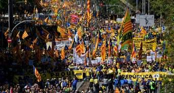 В Барселоне требуют освободить каталонских политзаключенных