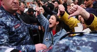Протесты в Армении: впечатляющие фото с улиц Еревана