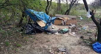 Спалення табору ромів у Києві: з'явилися фото з місця подій після інциденту