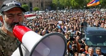 Протесты против действующего правительства вспыхнули еще в одном городе Армении