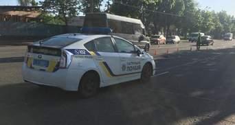 В Кривом Роге патрульный сбил пешехода: фото