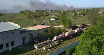 Интенсивность взрывов в Балаклее уменьшилась, тушение пожара продолжается