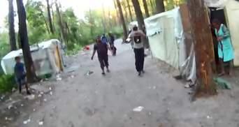 Активисты опубликовали видео, как ромы забрасывают камнями эколога в Голосеевском парке