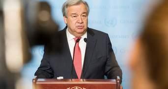Звільнення політв'язнів: країни-учасниці ООН закликали Гутерріша обговорити питання з Путіним