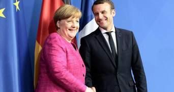 Макрон та Меркель обговорили міграційну політику