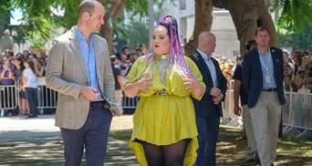 Принц Вільям прогулявся з переможницею Євробачення-2018 Неттою Барзілай