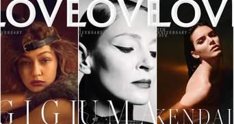 Відомі супермоделі знялись для ювілейної обкладинки Love Magazine: фото