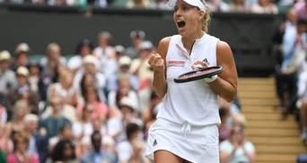Анжелик Кербер выиграла в финале Wimbledon в Серены Уильямс
